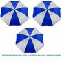 Guarda Sol Praia E Piscina Fashion Azul Mor - Kit C/ 3