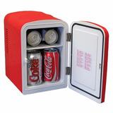 Mini Refrigerador Coca Cola Estilo Retro 6 Latas Portatil