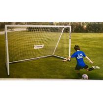 Portería De Fútbol Soccer De Acero Inoxidable 3.66m X 1.98m
