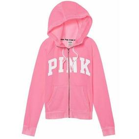 Victorias Secret Sudadera Hoodie Color Rosa Capucha Amyglo