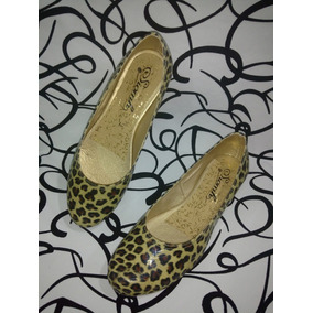 Zapatos Dama Baleta Clásica Color Animal Print Envío Gratis