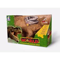 Dinossauro Dino World Com Som Tiranossauro Rex Cotiplas