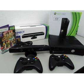 Xbox 360 Desbloqueado + 2 Controle + Kinect + 4 Jogos