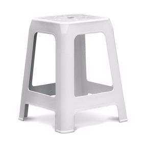Cadeira Dolfin Banqueta Tabouret Branca 4 Peças