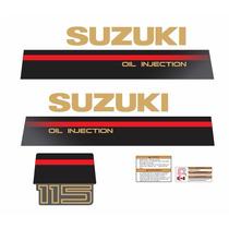 Faixa Adesivo Motor Suzuki 115 Hp Ano 1995 A 1997