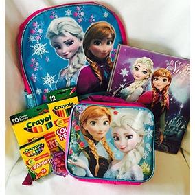 Frozen Bundle Escuela Con La Bolsa De Libros Y Box Lunch