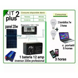 Kit Cargador Solar Energia Laptop Portatil Panel Bateria Luz