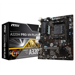 Mother Msi A320m Pro Vh Plus Am4 Ryzen Ddr4 Usb3.1 Hdmi A320