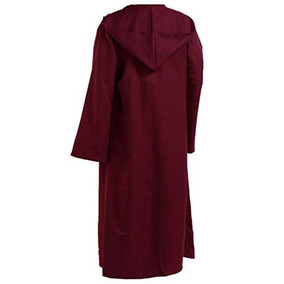 Hombres Tunic Hooded Robe Capa Caballero Disfraz Cool W34