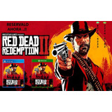 *** Red Dead Redemption 2 - Ps4 Fisico Ya Tico Electrox ***