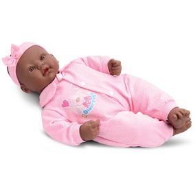 Boneca Bebê Real Negra Coleção Divertoys Fala E Chora