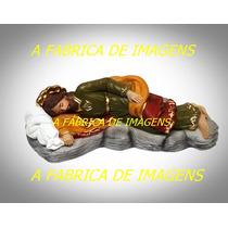 5 Imagem São Jose Dormindo Na Pedra Do Papa Francisco 20cm