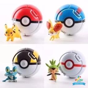 Pokebola (pode Jogar) Pokemons Pikachu Ash Festa A012