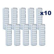 Kit 10 Lâmpadas De Emergência 30 Leds Luminária Recarregável