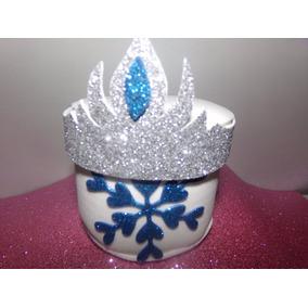Figura Copo De Nieve Frozen Corazón Goma Eva Súper Glitter