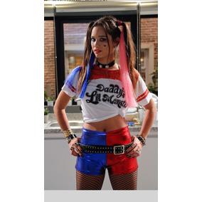 Disfraz Cosplay Harley Quinn Queen Campera Bordada Y Remera