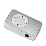 Reproductor Mp3 Míni Usb Micro Sd Card Recargable Plata