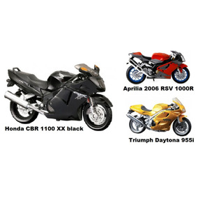 Motos Replica Escala1/18 Honda/yamaha/bm/suzuki/vespa/harley