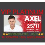 Entradas Axel Vip Platinum Primeras Filas Mercadolider Gold
