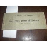 Raro Talão Cheques Anos 30 The Royal Bank Of Canada