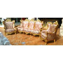 Sofa Imponente Classico 04 Poltronas Madeira Maciça Entalh