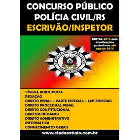 Apostila Polícia Civil - Rs Escrivão/inspetor Pronta Entrega