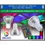 Bombilla Deled Rgb 3w Mr16 110v Multicolor Control Remoto