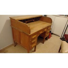 escritorio antiguo roble estilo americano vintage