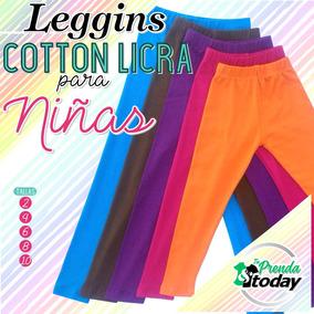 Leggins De Niña En Cotton Licra