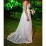 Vestido Blanco De Novia, 15 Quince, Tul Bordado, Fiesta
