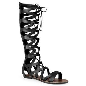 Sandalia Gladiador Dama,negro, Altas, Moda, Envio Gratis