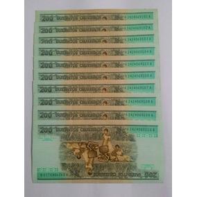 Dinheiro:50 Cédulas Em Série 101 A 150 Antigas 200 Cruzeiros