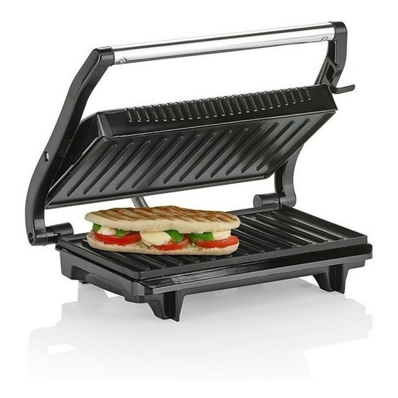 Parrilla Electrica Grill Plancha Sandwichera Winco W14 2en1