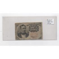 Ee.uu. Antigüo Billete De 10 Centavos De Dolar De 1874