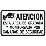 Aviso Señal De Camaras De Seguridad Auto-adhesivo