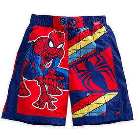 Spiderman Ropa De Baño Bermuda Talla 5/6. Disney Store