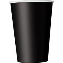 Vasos De Papel, De 12 Onzas, Negro, 10 Count