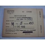 Antigua Entrada Futbol - River Velez - Año 1983