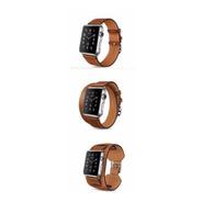 3 Pulseiras Couro Estilo Hermes Apple Watch 38/40mm - Marrom