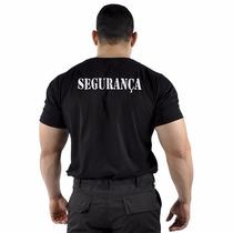 Camiseta Preta - Modelo Segurança Em Branco
