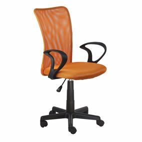 Cadeira Escritorio Lost Secretaria Laranja Giratoria + Nf