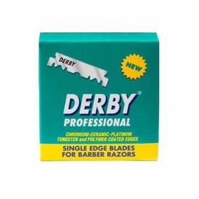 Navajas Barbero Derby Profesional Para Portanavajas 100pz