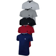Kit 05 Camisetas Masculinas Blusa  Slim Lisa  Polo Rg518