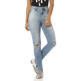 Calça Jeans Feminina Skinny Cintura Alta Denim Zero - Dz2422