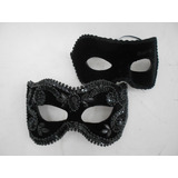 Romeu E Julieta Black Mascaras Casal Luxo Gala Festa