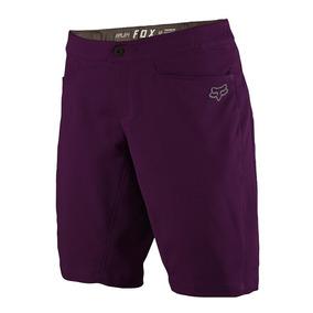 Short Ripley Fox Para Mujer Color Púrpura Con Lycra Para Mtb