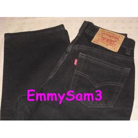 Levis 512 Jeans Negro Dama Talla 4 Reg S Usa Nvo Sin Etiq