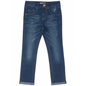 Calça Jeans Skinny Com Cinto Menino Marisol 8anos