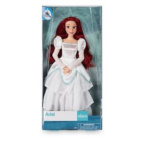 Boneca Princesa Ariel Vestido De Noiva Original Disney Store