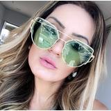 Óculos De Sol 775 Gold Transparente Verde Feminino Promoção